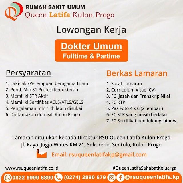 Loker Dokter RSU Queen Latifa Kulonprogo