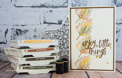 Find Out How To Stamp These Multi Coloured Leaves here - made using Stampin' Up! UK SUpplies