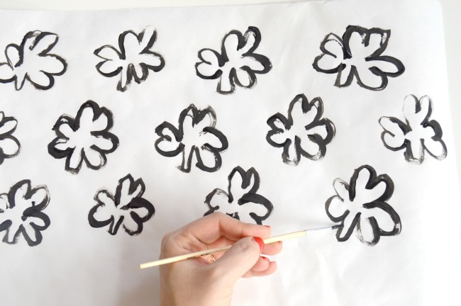 DIY Watercolor Shamrock Placemats