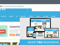 New Invert Pro Responsive Blogger Template