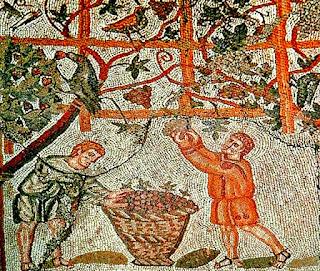 La vendimia en la Roma antigua.