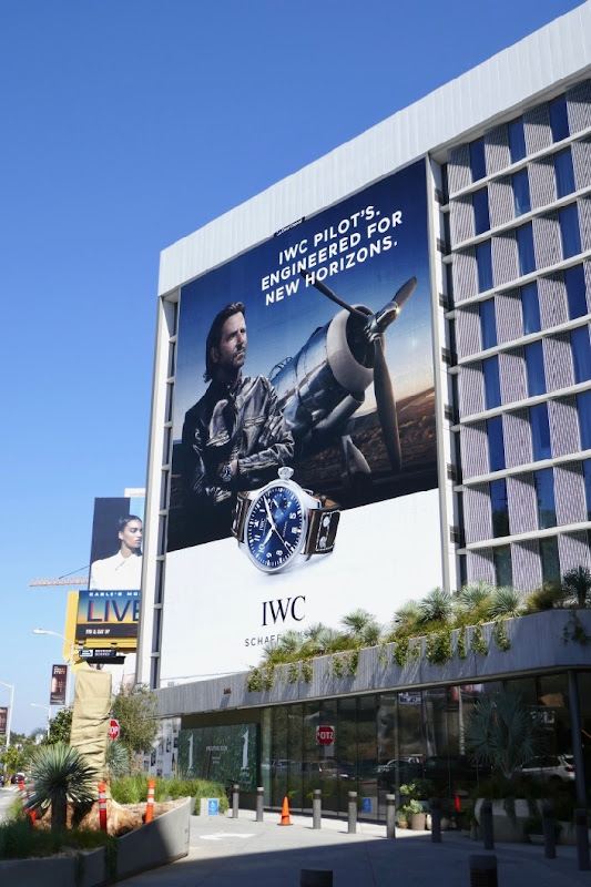Giant Bradley Cooper IWC Pilots watch billboard