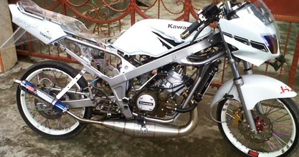 30 Inspirasi Baru Modifikasi Motor Ninja R Jari Jari Warna Putih
