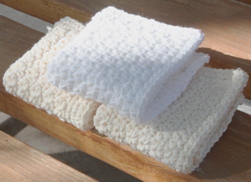 Pretty Washcloths in Single Crochet - Free Pattern