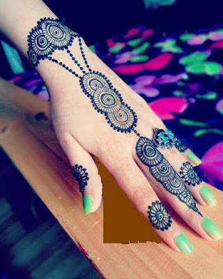 mehndi simple designs for left hand