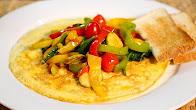 طريقة عمل اومليت بالخضار   Veggie Omelet