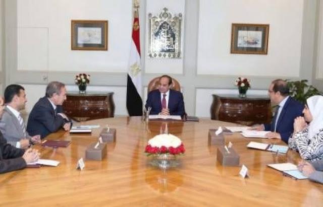 أعضاء-لجنة-العفو-الرئاسي-مع-السيسي-كالتشر-عربية