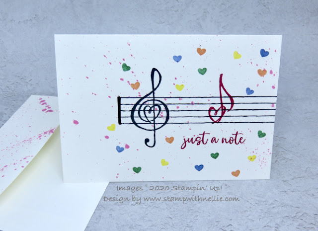 Music from the heart - Stampin Up