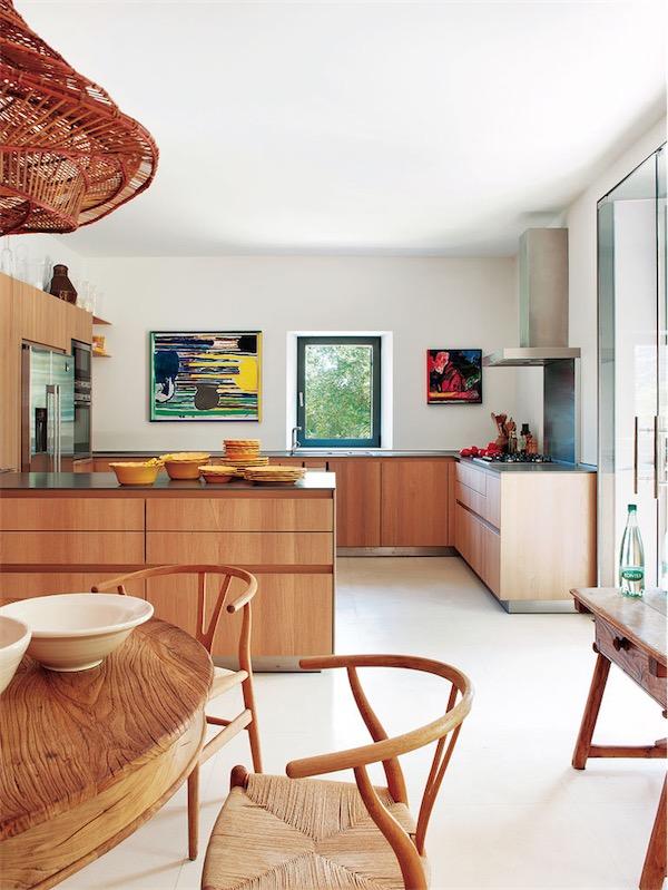 cocina de diseno en madera en casa rustica chicanddeco