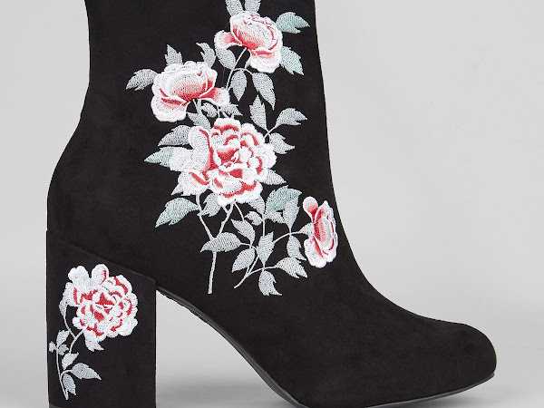 Blogger Made Me Buy It: New Look Floral Embroidered Suede Ankle Boots