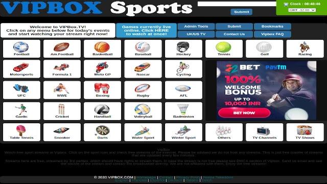 Vipbox-sports-site