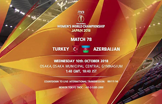 Women's Volleyball World Championship Biss Key Eutelsat 7A/7B 10 October 2018