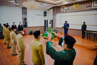 Wali Kota Lantik  5 Pejabat Eselon II dan III Pemko Medan