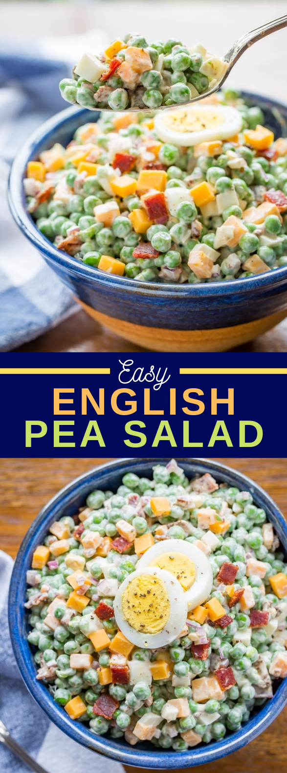 Easy English Pea Salad #vegetarian #easysalad