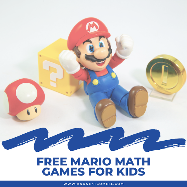 Mario math games, activities, & worksheets for kids inspired by classic Super Mario video games!