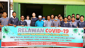 CV  Burhan Tani Mandiri serta CV Flora dan Fauna Salurkan Bantuan Untuk Sembilan Desa