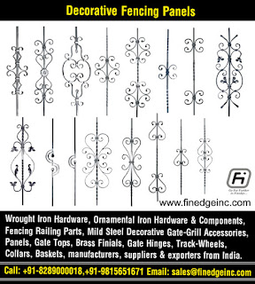 decorative metal fence posts manufacturers exporters suppliers India http://www.finedgeinc.com +91-8289000018, +91-9815651671
