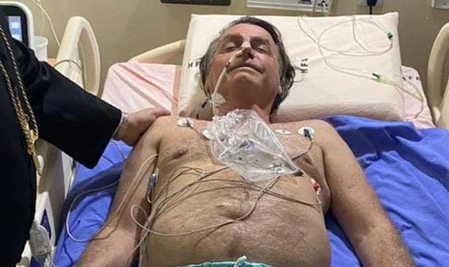 Internado após obstrução intestinal, Bolsonaro cita Deus e agradece orações