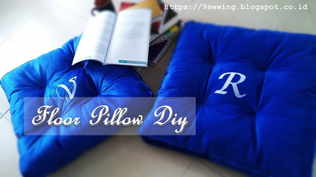 floor pillow diy - bantal duduk