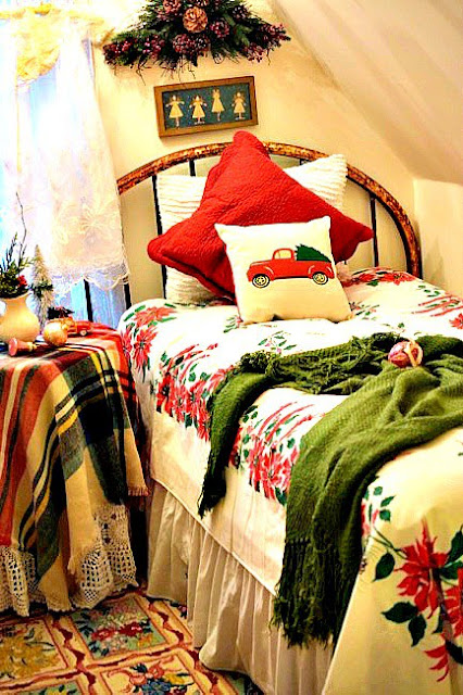 Charming Christmas Guest Room