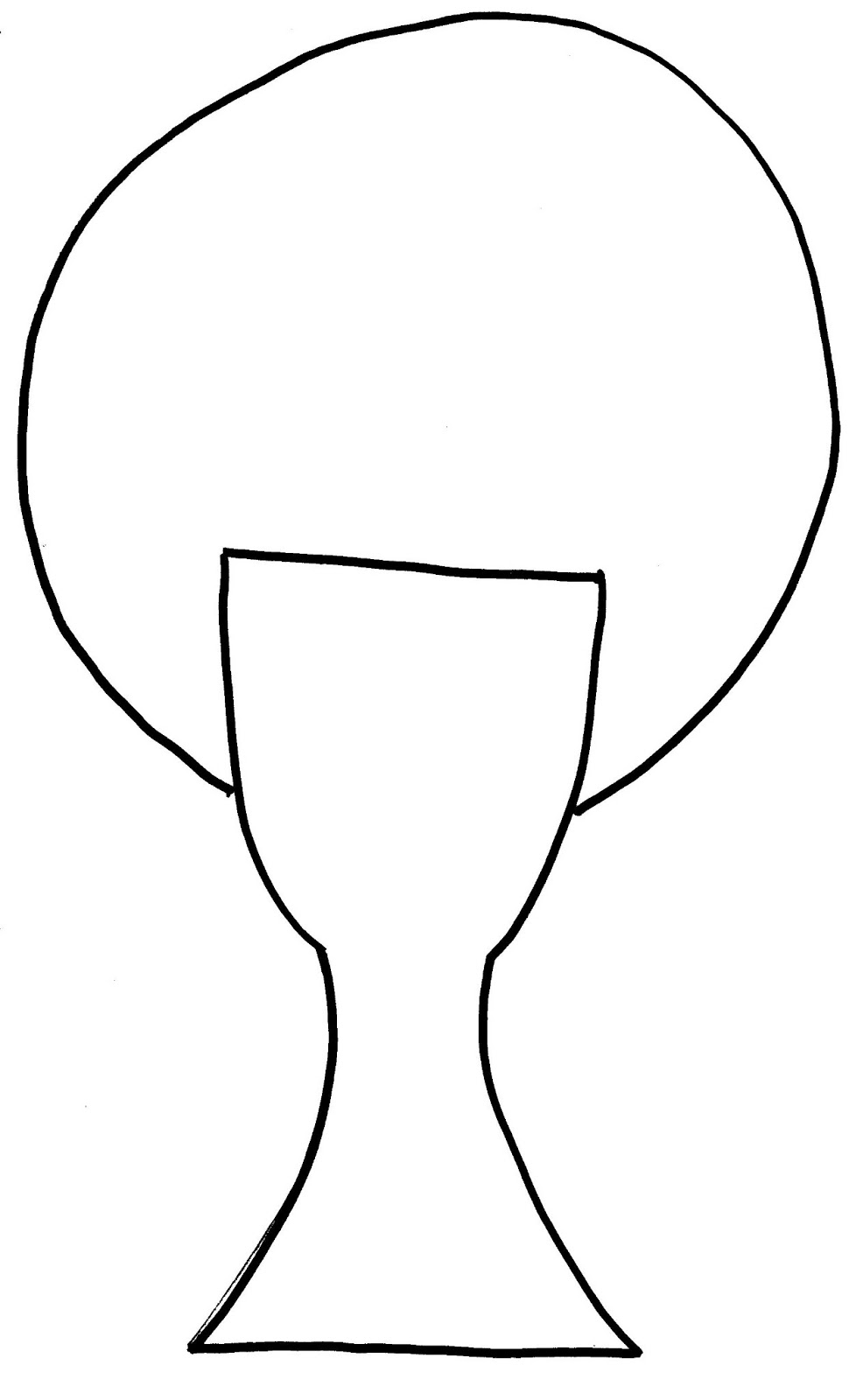 Chalice Coloring Templates Pages Sketch Coloring Page