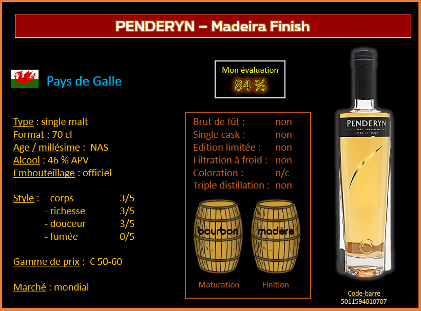 Review #622  : Penderyn – Madeira Finish
