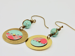 Front of Plaid Earrings by BayMoonDesign