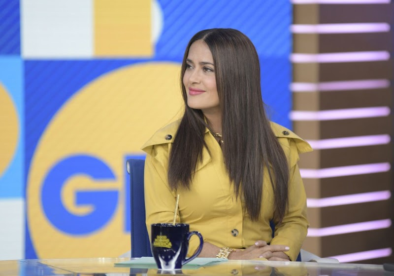 Salma Hayek Clicks at Good Morning America in New York 7 Jan-2020