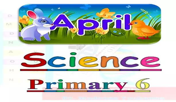 مراجعة ساينس منهج الصف السادس الابتدائي لشهر ابريل
