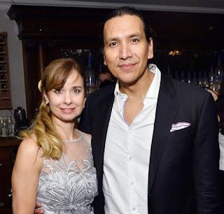 Nancy Latoszewski with her husband Michael Greyeyes