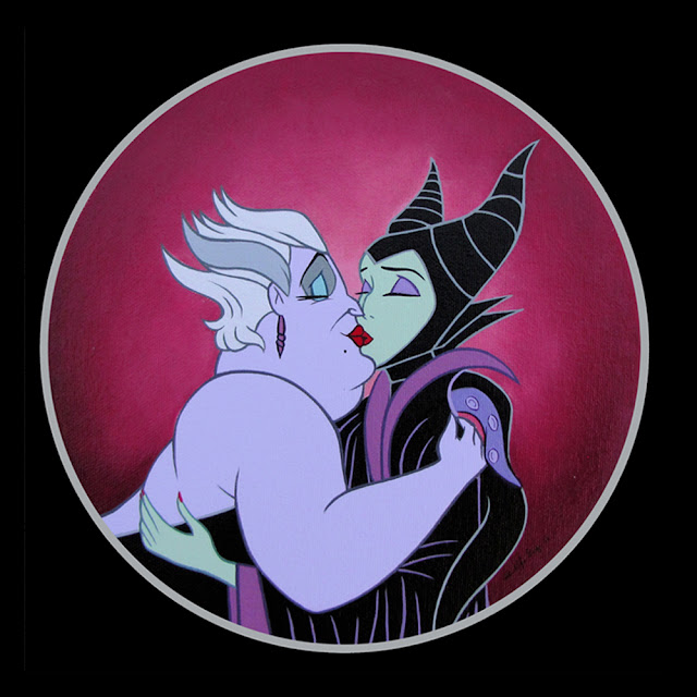 Ursula and Maleficent Kiss