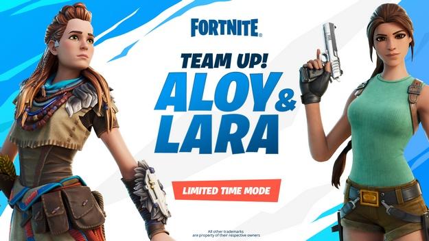 Fortnite Lara croft and Aloy