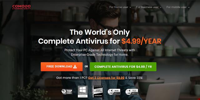 Antivirus Gratis Terbaik Yang Ringan Untuk Laptop - Comodo Free antivirus