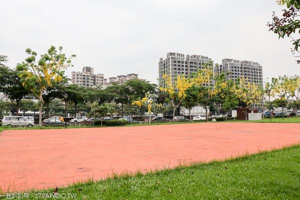 台中太平|新福公園|探索迷宮|阿勃勒|水雉裝置藝術|沙坑|籃球場|運動休閒