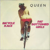 "Queen - ""Bicycle Race""/""Fat Bottomed Girls"" okładka"