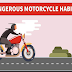 Dangerous Motorcycle Habits #infographic