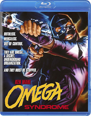 Cover art for Scorpion Releasing's Blu-ray release of OMEGA SYNDROME!