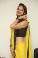 Cute Actress Ashwini in Yellow Saree Exclusive  058.JPG