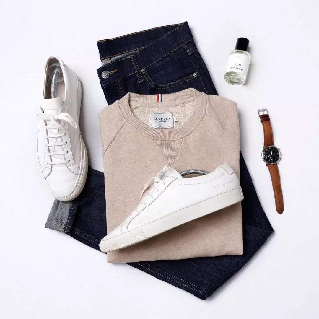 Men's sweatshirts Outfit grid.
