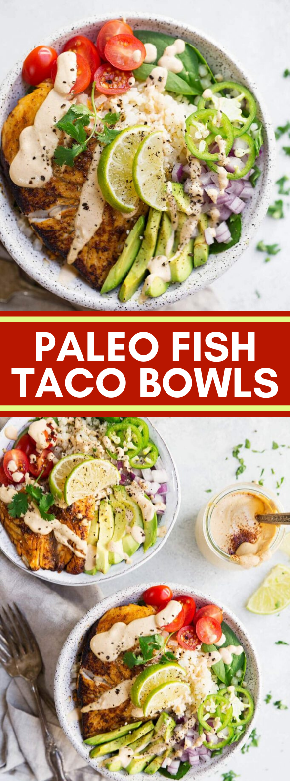 PALEO FISH TACO BOWLS #diet #veggies