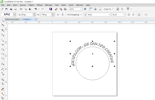 Cara Membuat Tulisan Melengkung di Corel Draw