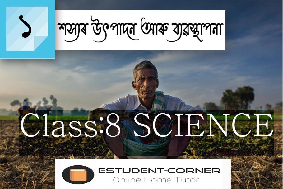 Class 8 || SCIENCE || Lesson 1 || শস্যৰ উৎপাদন আৰু ব্যৱস্থাপনা || All Textual Questions & Answers in Assamese Medium