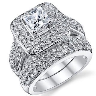 cubic zirconia wedding ring white gold