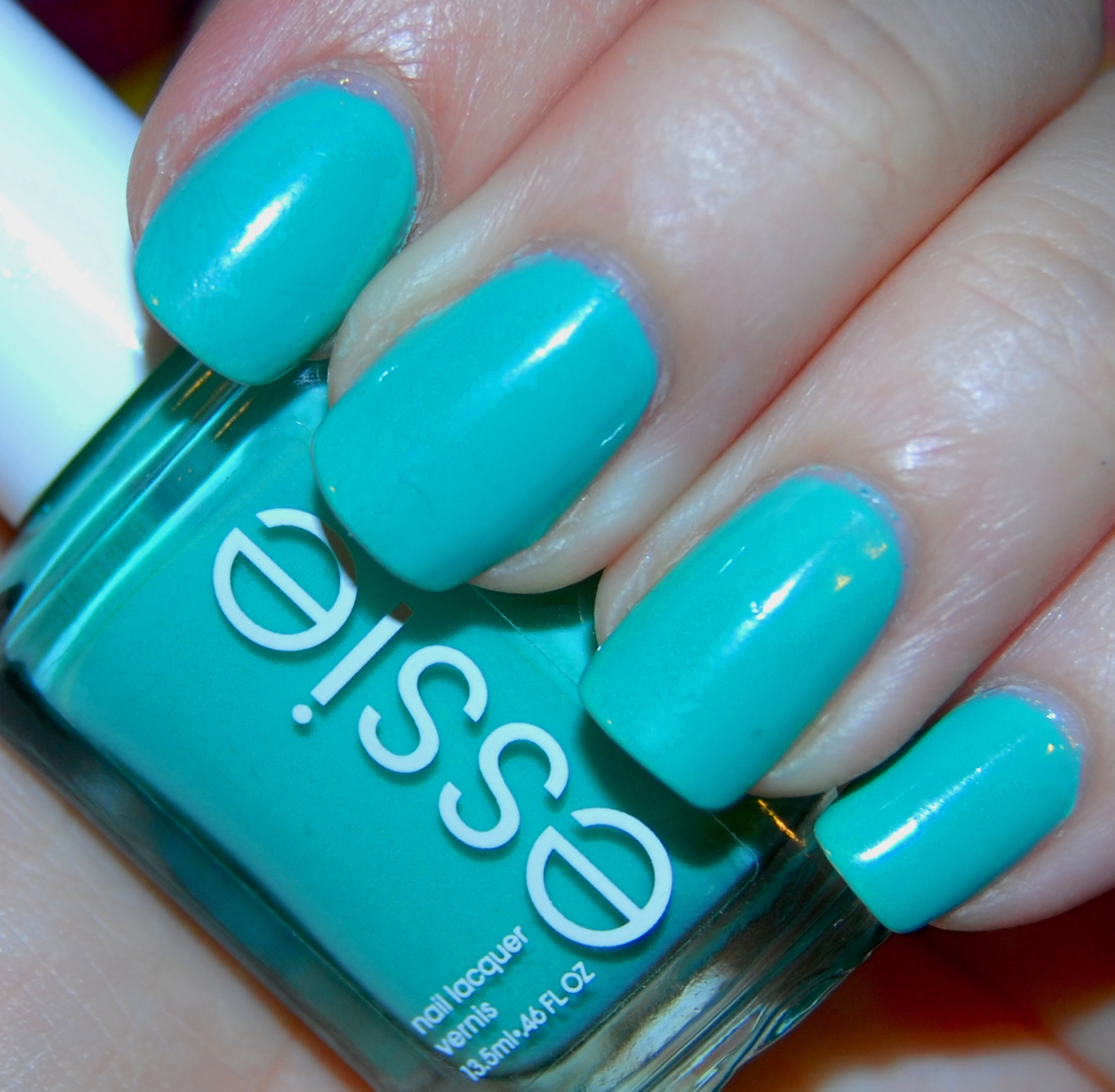 Mermaid Nails: Essie Turquoise & Caicos Nail Polish