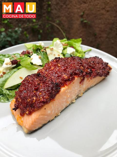 mau cocina de todo salmon con tomates deshidratados receta al horno facil