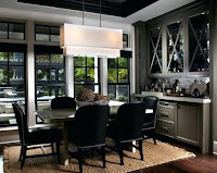 Dark gray dining room hutch furniture