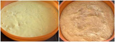 pan di spagna ricetta base pasticceria cuociamo a 180° per 30 minuti