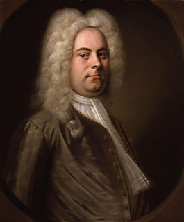 Ariosti shared the directorship of the Royal Academy of Music in London with his rival Handel (above)