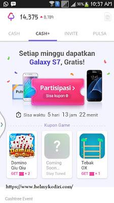 Bergabung dan bermain aplikasi Cashtree