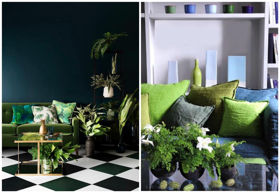 Deco: Greenery couleur Pantone 2017